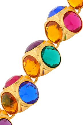 BEN-AMUN Gold-plated crystal bracelet