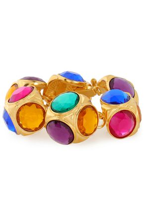BEN-AMUN Gold-plated crystal bracelet