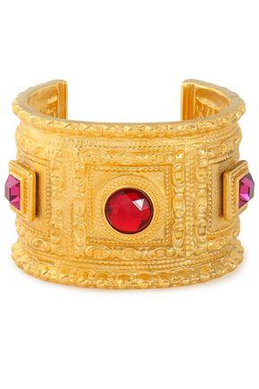 BEN-AMUN Gold-plated stone cuff