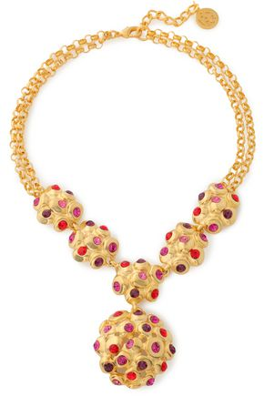 BEN-AMUN Gold-plated crystal necklace