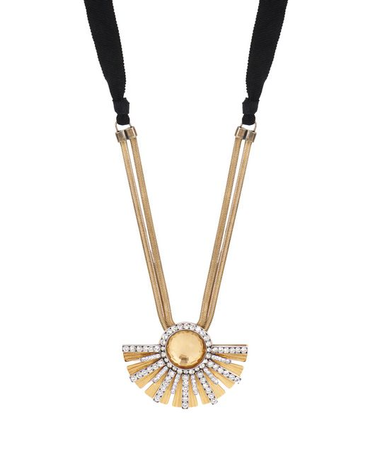"SHORT GOLD ""SOLEIL"" NECKLACE  - Lanvin"