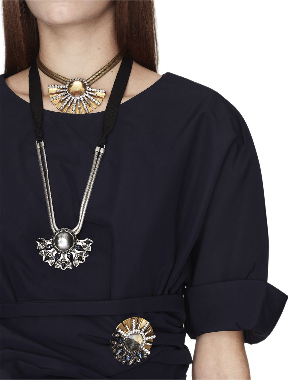 "BLACK ""COSMIC MOON"" NECKLACE - Lanvin"