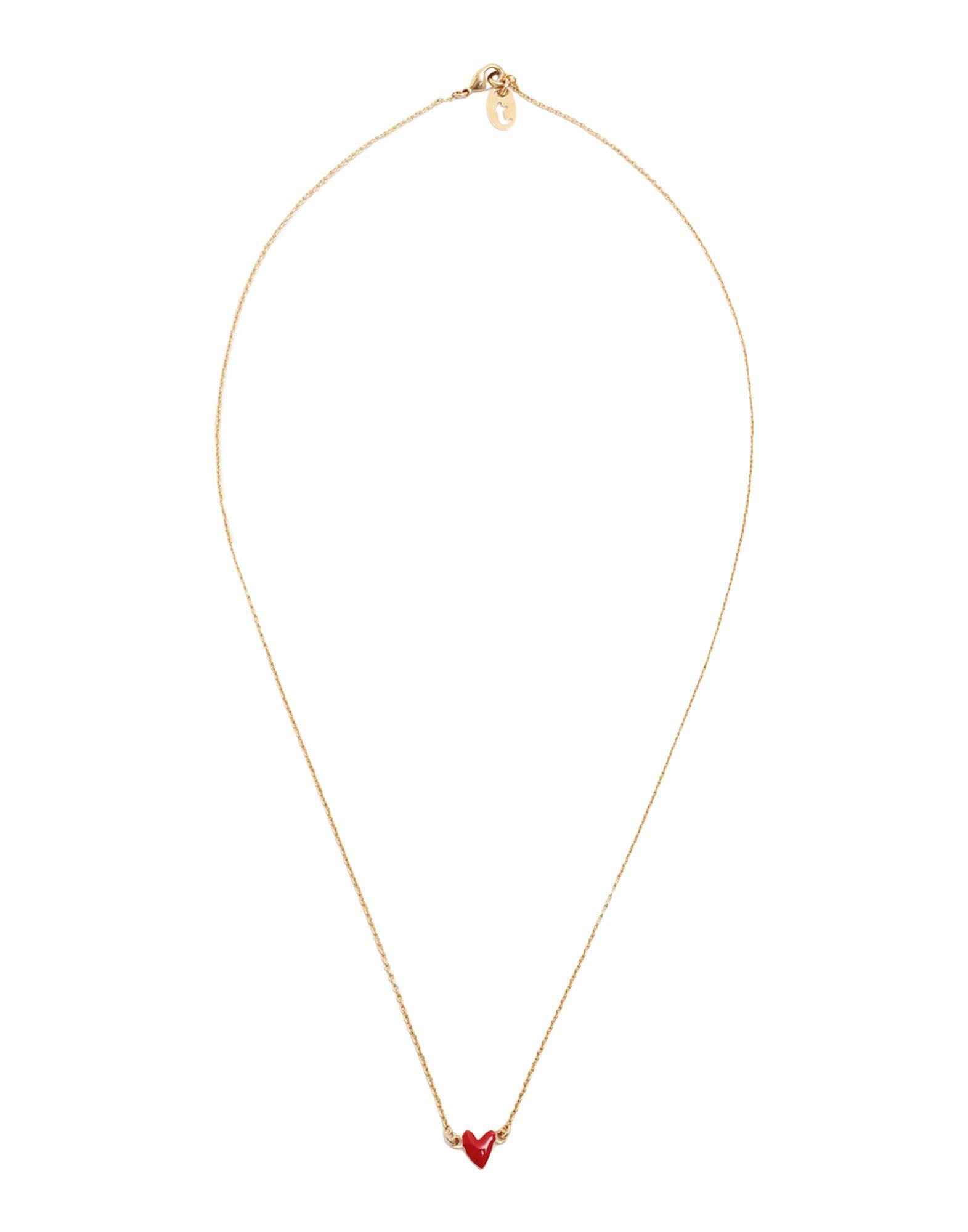 《セール開催中》TITLEE レディース ネックレス レッド 真鍮/ブラス / エポキシ樹脂
