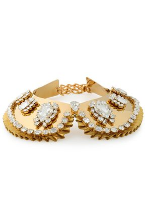 DOLCE & GABBANA Gold-tone crystal necklace
