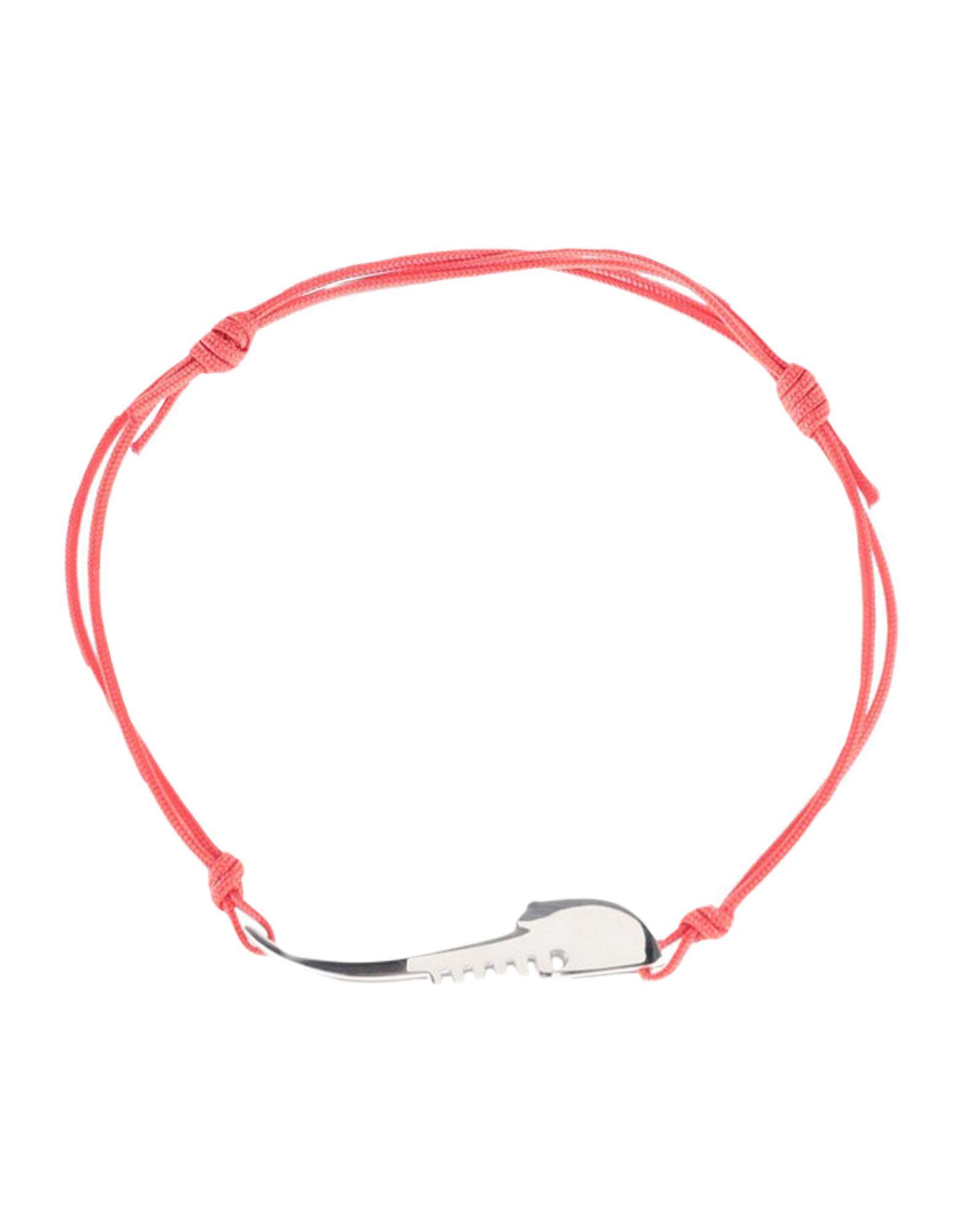 《セール開催中》FRANCESCO PAVAN レディース ブレスレット レッド 紡績繊維 / シルバー925/1000
