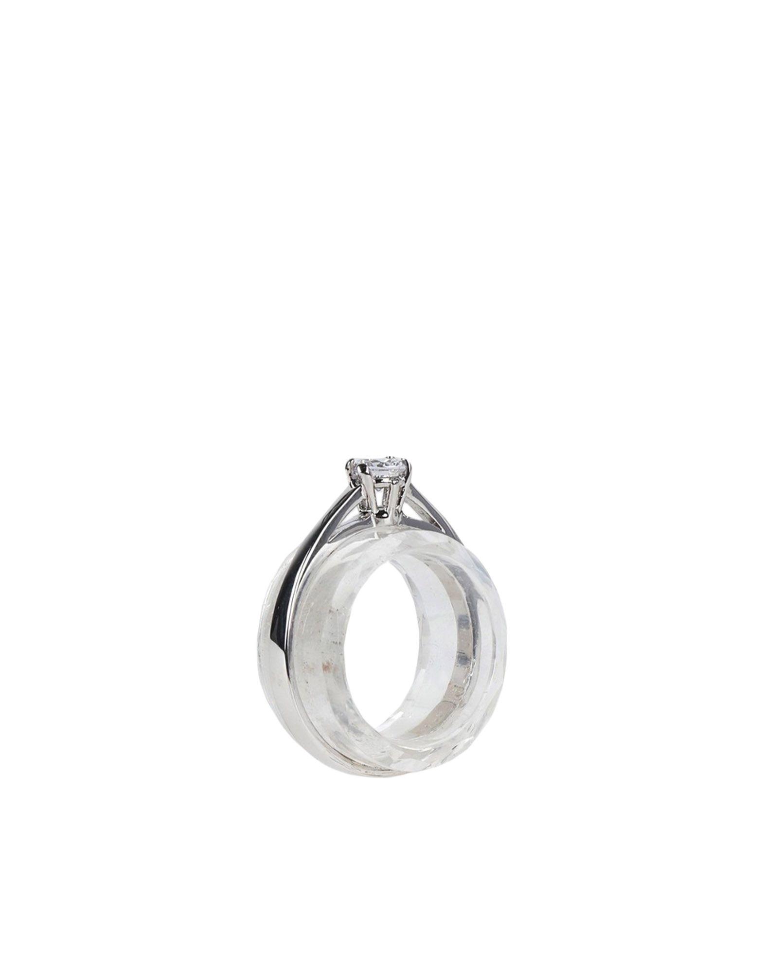 《セール開催中》MAISON MARGIELA レディース 指輪 シルバー S 自然石 100% / 真鍮/ブラス