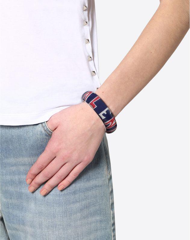 Plexiglas bracelet with scarf logo detail