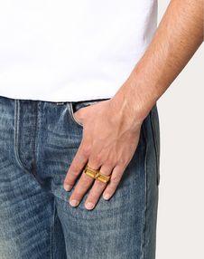 Double VLOGO Ring
