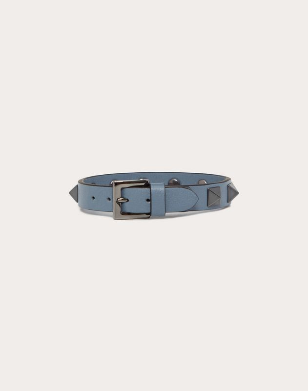 Rockstud 镀钌铆钉皮制手环