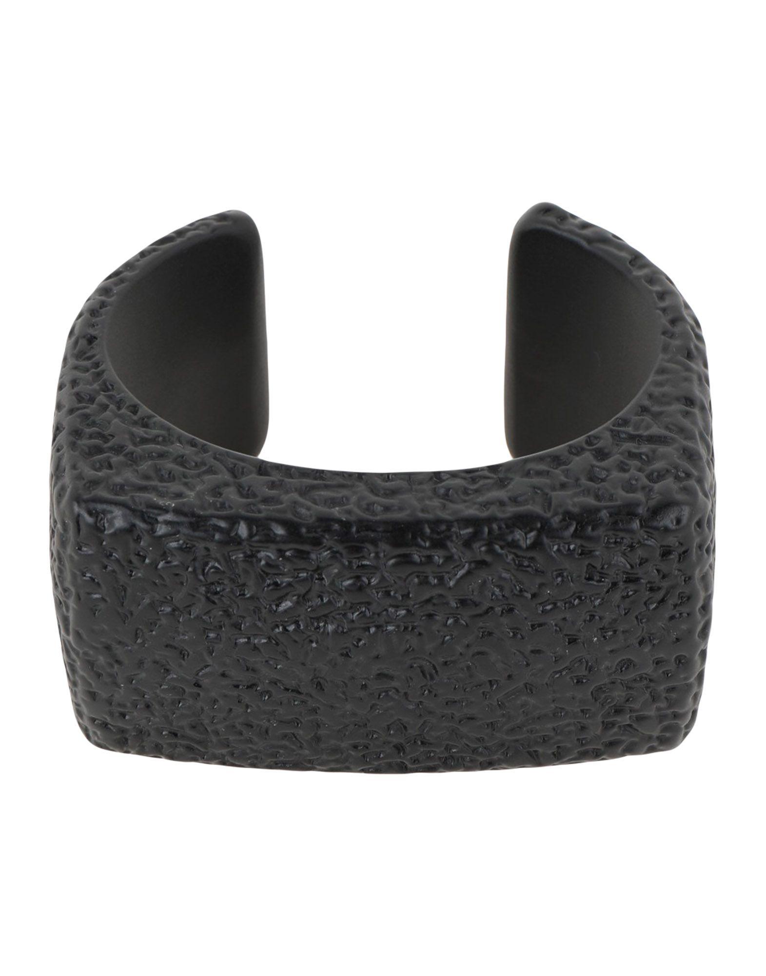 《送料無料》MM6 MAISON MARGIELA レディース ブレスレット ブラック プラスティック