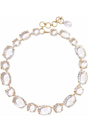 BOUNKIT Gold-tone quartz necklace