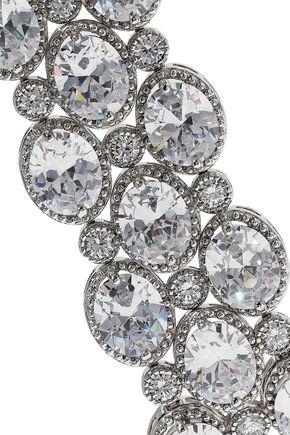 CZ by KENNETH JAY LANE Silver-tone crystal bracelet