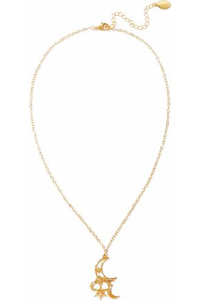 NOIR JEWELRY Gold-tone necklace