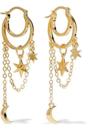 NOIR JEWELRY Gold-tone hoop earrings