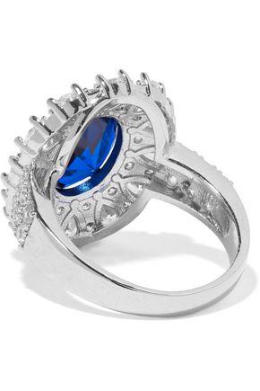 CZ by KENNETH JAY LANE Silver-tone crystal ring