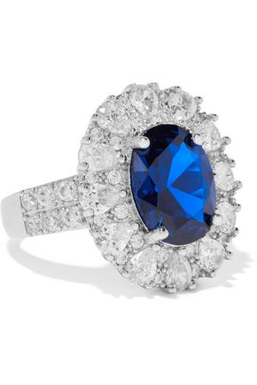 CZ by KENNETH JAY LANE Silver-tone crystal ring