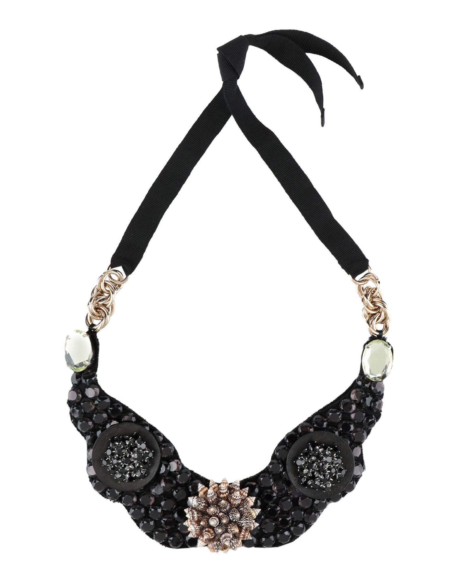 《セール開催中》ORTYS OFFICINA MILANO レディース ネックレス ブラック 紡績繊維 / 金属