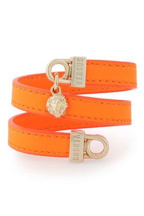 VERSUS VERSACE Embellished leather wrap bracelet