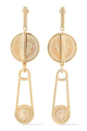 VERSUS VERSACE Gold-tone earrings