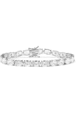 CZ by KENNETH JAY LANE Silver-tone crystal bracelet