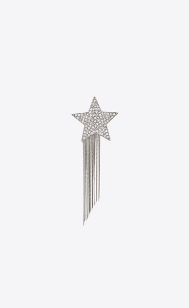 STARS & LOVE Star brooch with metal chains