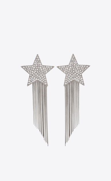 STARS & LOVE Star earrings with metal chains