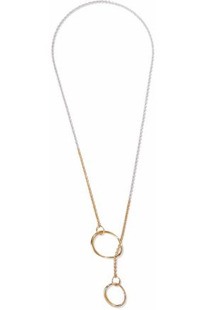 CHARLOTTE CHESNAIS Symi rhodium-plated and 18-karat gold vermeil necklace