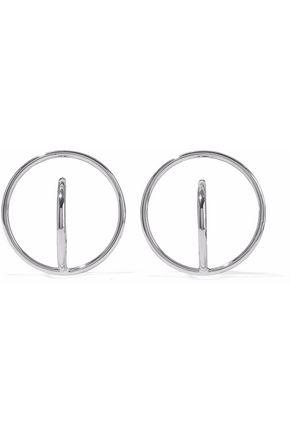 CHARLOTTE CHESNAIS Saturn rhodium-plated earrings