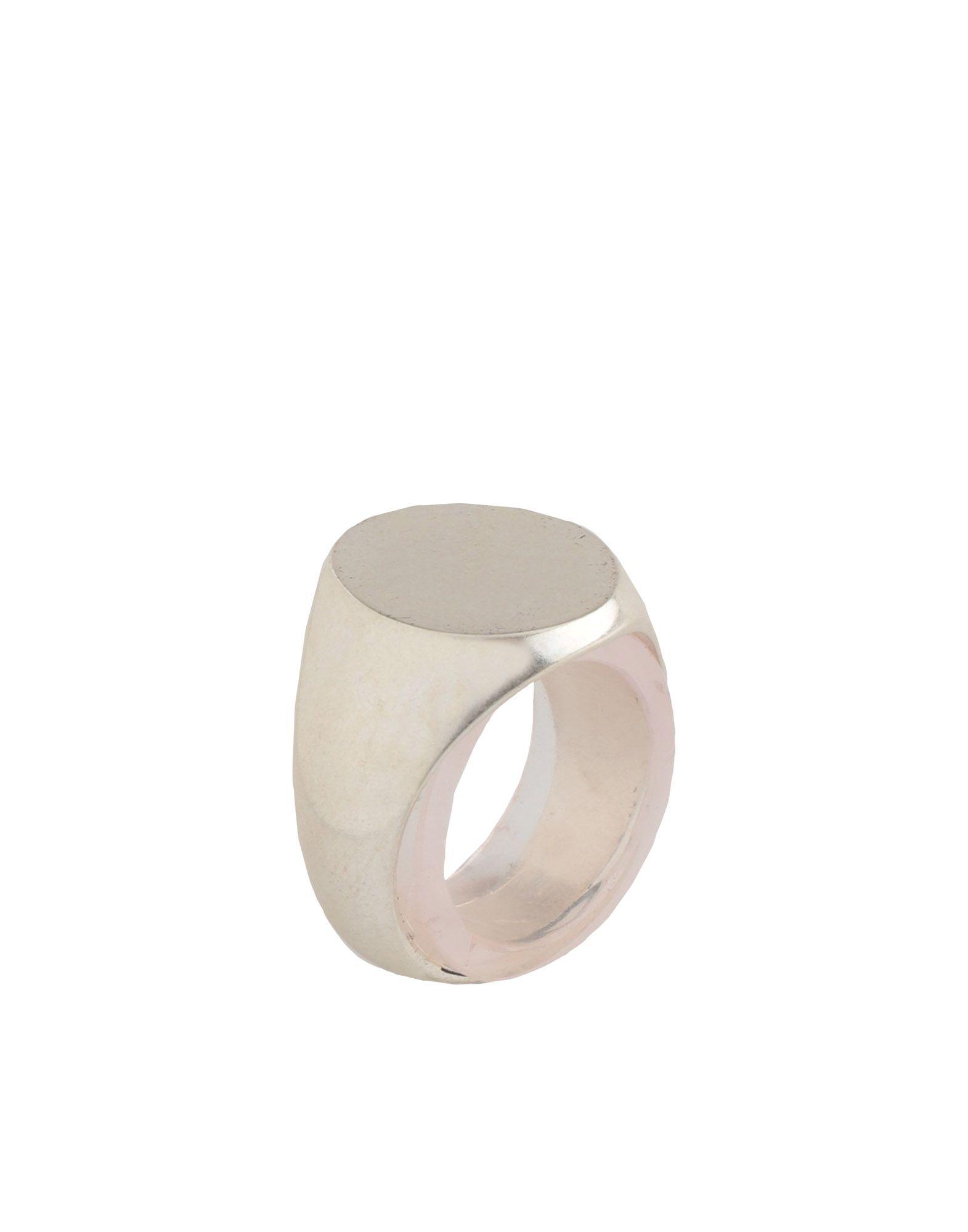 《送料無料》MAISON MARGIELA レディース 指輪 シルバー 17 金属