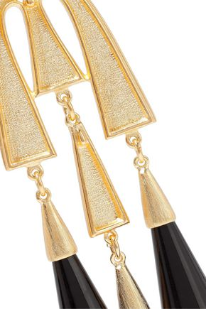 BEN-AMUN Gold-tone resin earrings