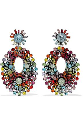 DANNIJO Mathilde silver-plated Swarovski crystal earrings