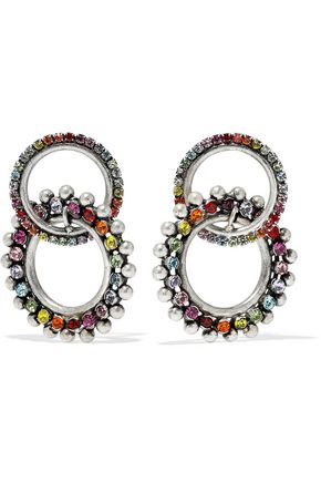DANNIJO Truby silver-plated Swarovski crystal earrings
