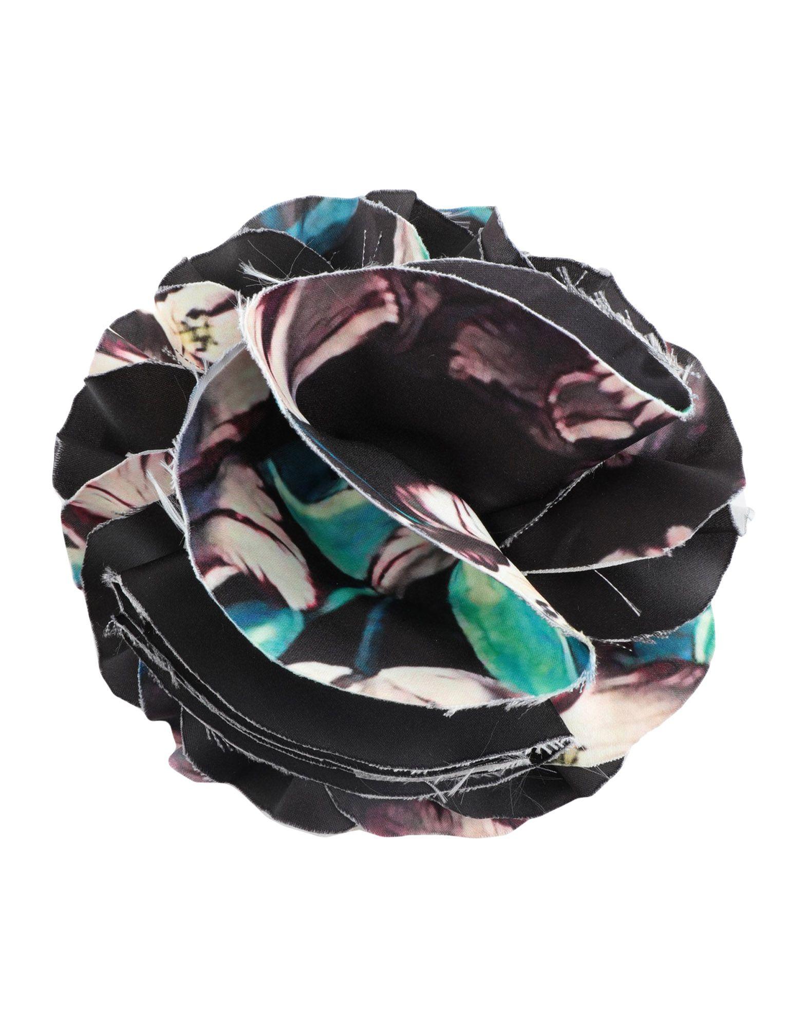 YOOX.COM(ユークス)《セール開催中》GIADA CURTI RESORT レディース ブローチ ブラック 紡績繊維