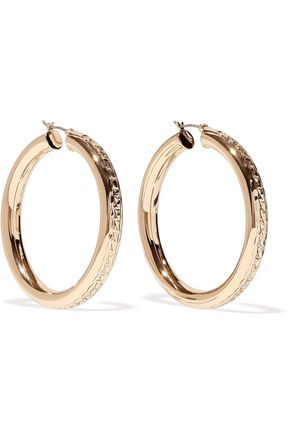 DANNIJO Lucy gold-plated hoop earrings