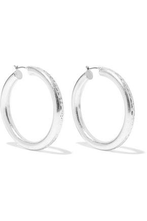 DANNIJO Lucy silver-tone hoop earrings