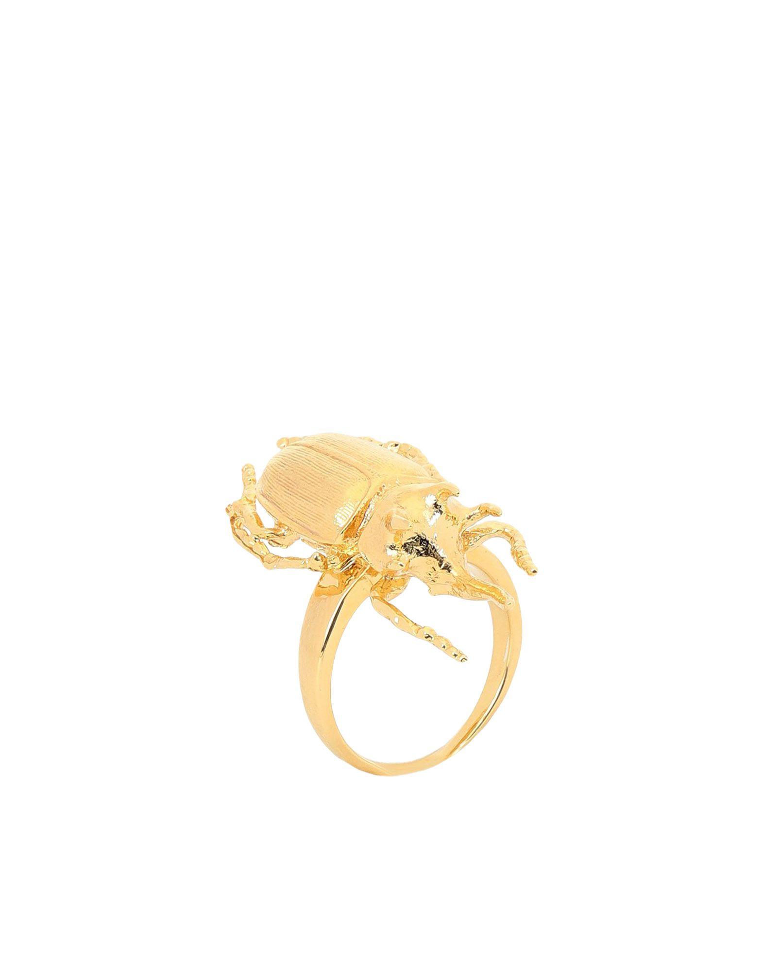 《期間限定 セール開催中》BILL SKINNER レディース 指輪 ゴールド S 真鍮/ブラス / 18金メッキ BEETLE RING