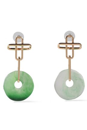 DANNIJO Gold-plated and resin earrings