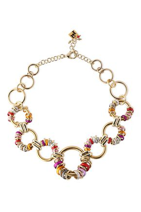 ROSANTICA Paradiso gold-tone ring-embellished necklace