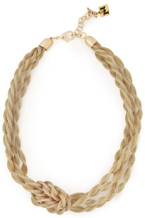 ROSANTICA Knotted gold-tone chain necklace