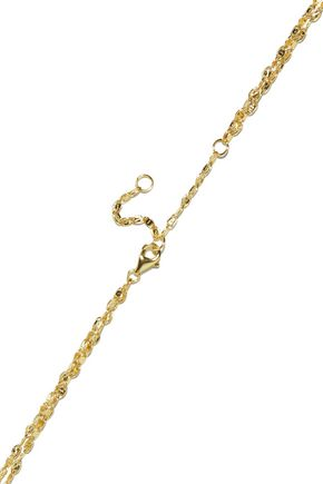 IRIS & INK Shashi 18-karat gold-plated sterling silver necklace