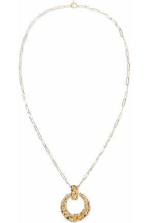 NOIR JEWELRY 14-karat gold-plated necklace