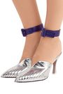 ATTICO Metallic leather ankle straps