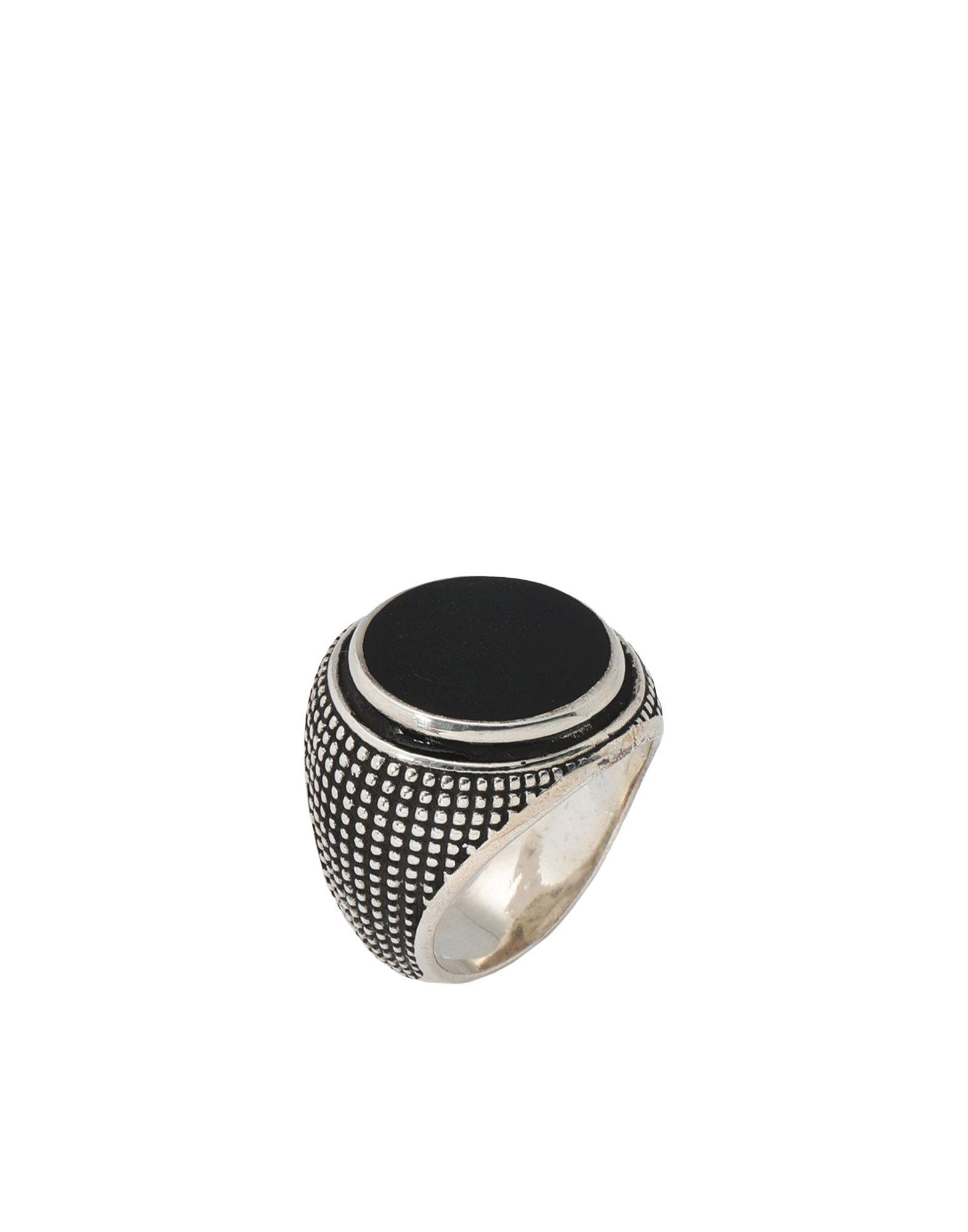 《セール開催中》ANDREA D'AMICO メンズ 指輪 ブラック 22 シルバー925/1000 100%