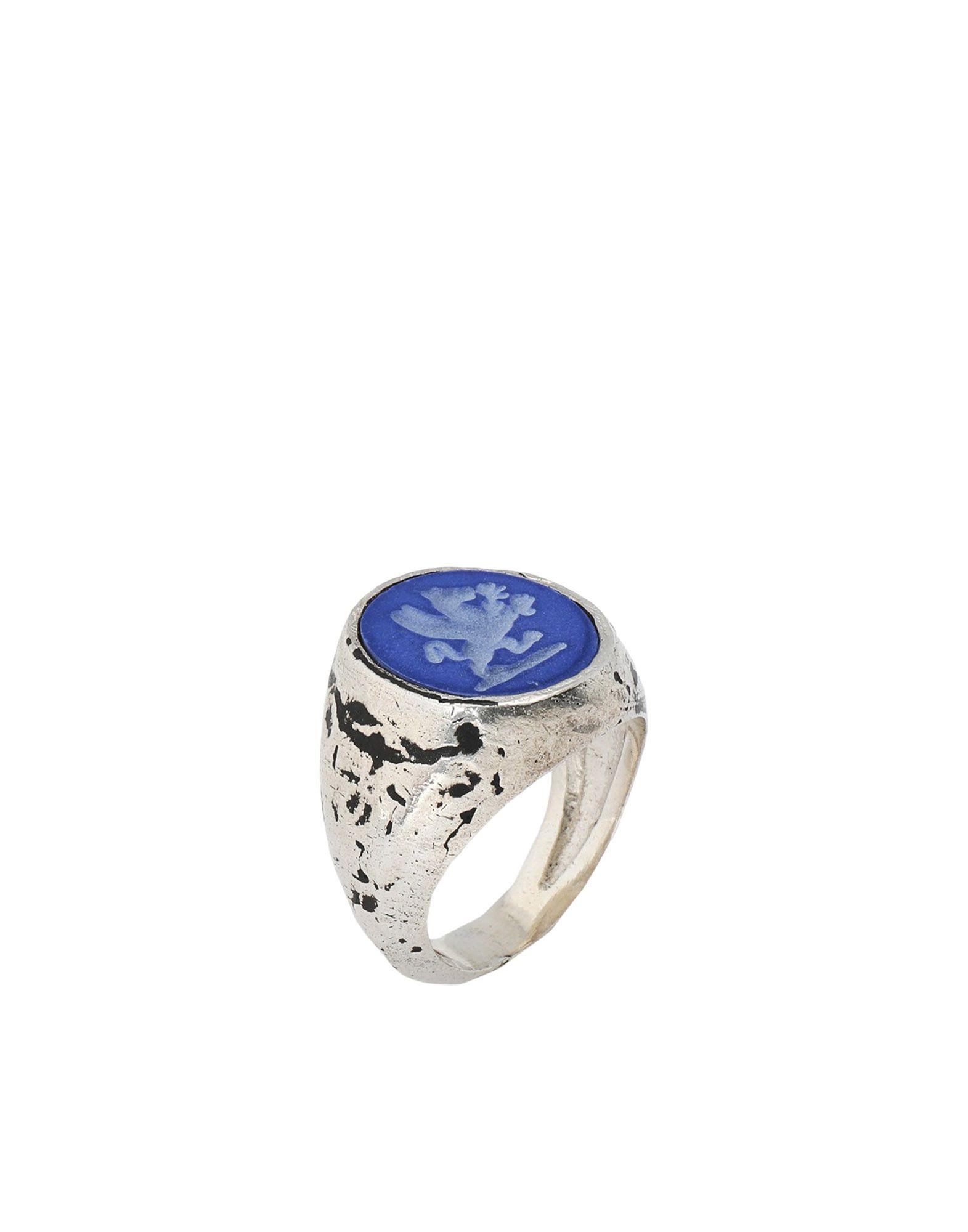 《セール開催中》ANDREA D'AMICO メンズ 指輪 ブルー 20 シルバー925/1000 100%