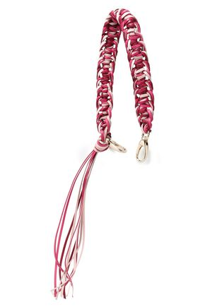 RED(V) Braided leather bag strap
