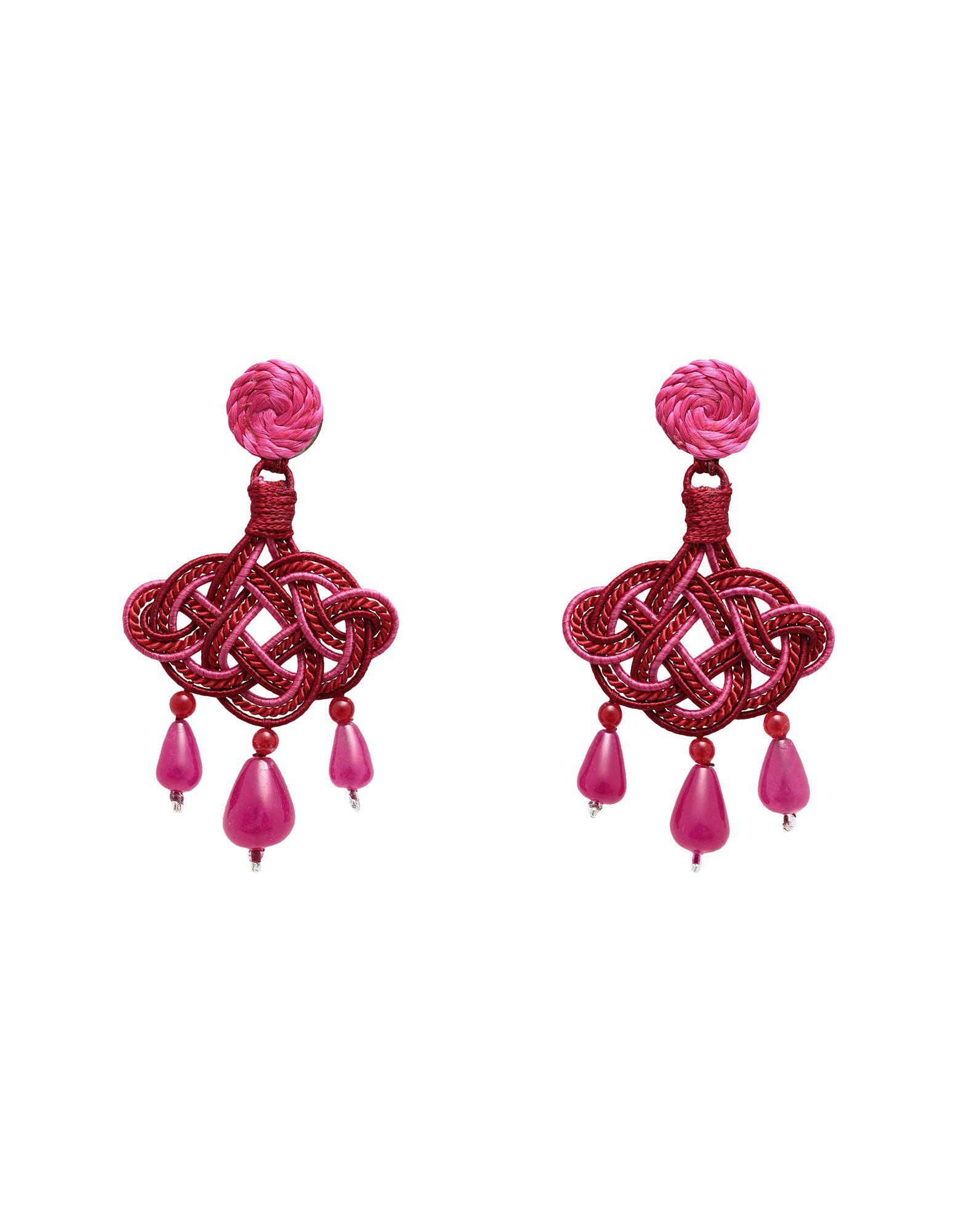 ANNA E ALEX Earrings in Burgundy