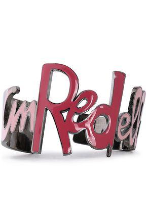RED(V) Gunmetal-tone enamel bangle
