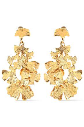 AURÉLIE BIDERMANN Gold-tone earrings