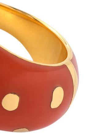 AURÉLIE BIDERMANN 18-karat gold-plated enamel ring