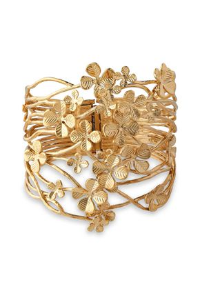 AURÉLIE BIDERMANN 18-karat gold-plated cuff